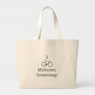 I Bike Midtown Greenway Large Tote Bag