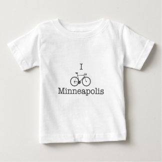 I Bike Minneapolis - Black text Baby T-Shirt