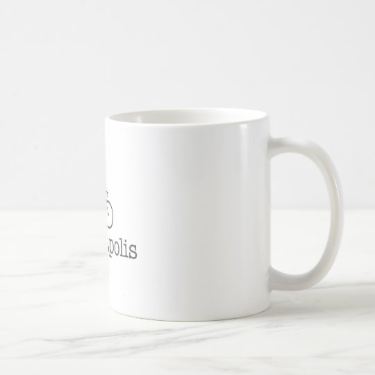 I Bike Minneapolis - Black text Coffee Mug