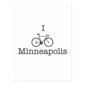 I Bike Minneapolis - Black text Postcard