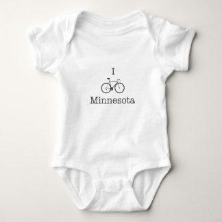 I Bike Minnesota Baby Bodysuit