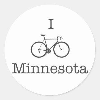 I Bike Minnesota Classic Round Sticker