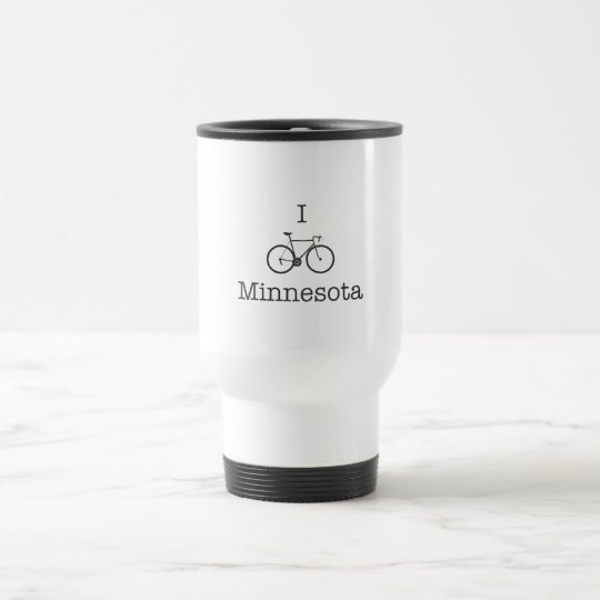 I Bike Minnesota Travel Mug
