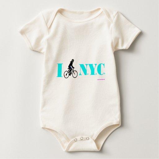 I Bike New York City Baby Creeper