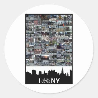 i bike NY Classic Round Sticker