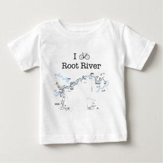 I Bike Root River Baby T-Shirt