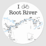 I Bike Root River Classic Round Sticker