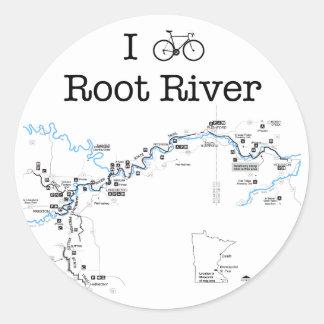 I Bike Root River Classic Round Sticker