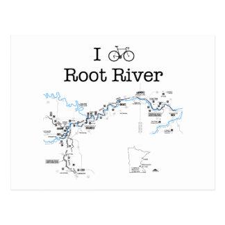 I Bike Root River Postcard