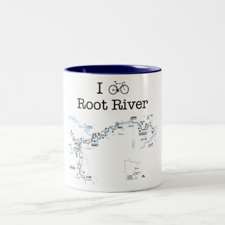 I Bike Root River Two-Tone Coffee Mug
