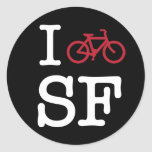 I bike SF (custom SF biking) Classic Round Sticker