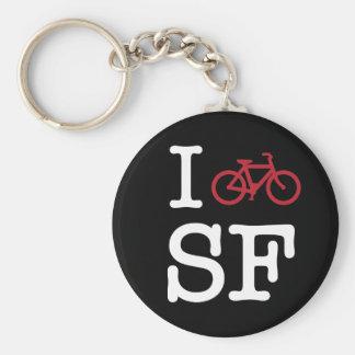 I bike SF (custom SF biking) Keychain