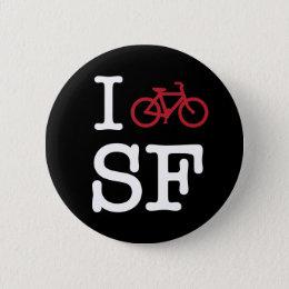 I bike SF (custom SF biking) Pinback Button