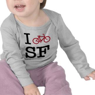 I bike SF (custom SF biking) T-shirts
