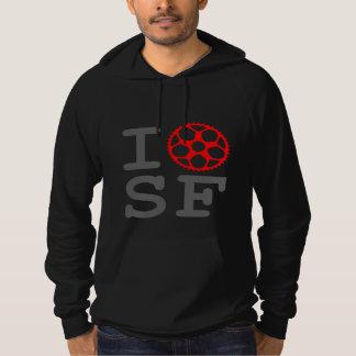 I Bike SF - San Francisco Bicyclist Hoodie