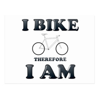 I bike therefore I am Postcard
