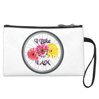 I bike therefore I am Suede Wristlet Wallet