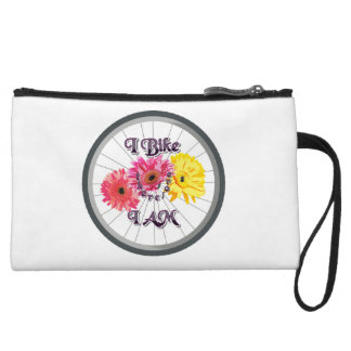 I bike therefore I am Wristlet Wallet