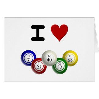 I bingo de Luv Tarjeta De Felicitación