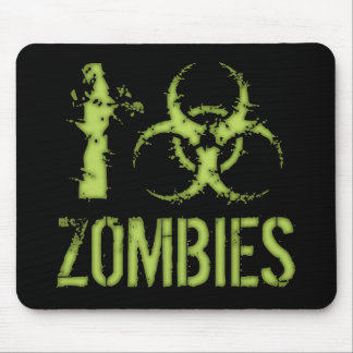 I Biohazard Zombies Mouse Pad