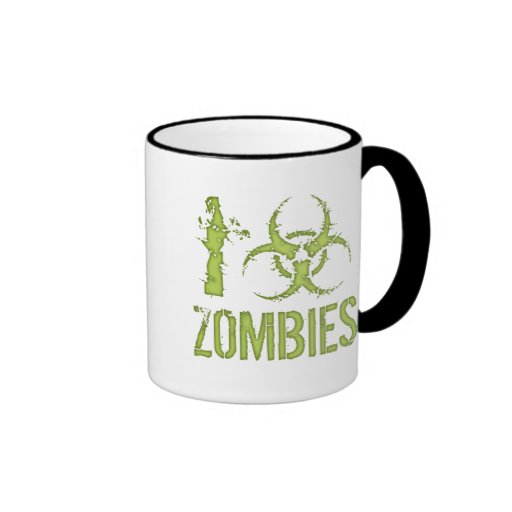 I Biohazard Zombies Mugs