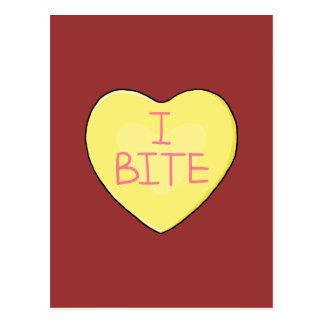 I Bite Anti-Valentine's Day Postcard