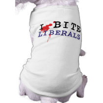 I BIte Liberals Dog Shirt