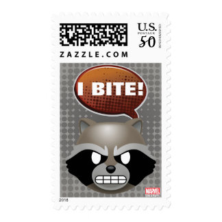 """""""I Bite"""" Rocket Emoji Postage"""