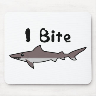 I Bite - Shark Mouse Pad