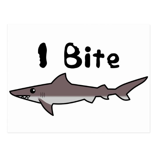 I Bite - Shark Postcard