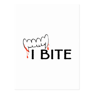I Bite (Teeth and Blood) Postcard