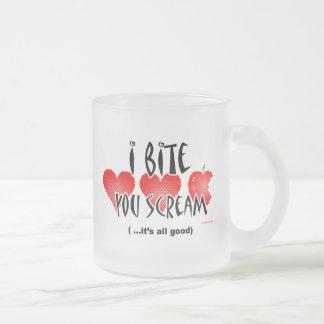 I Bite You Scream Vampire Frosty Mug