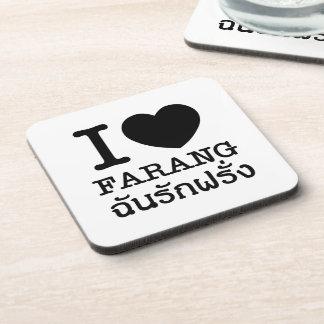 I Black Heart (Love) Farang Coaster