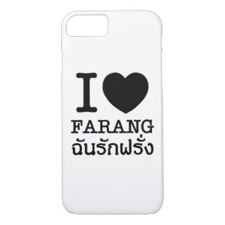 I Black Heart (Love) Farang iPhone 7 Case