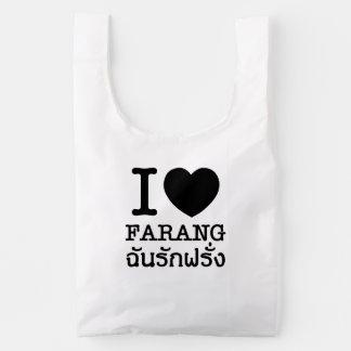 I Black Heart (Love) Farang Reusable Bag