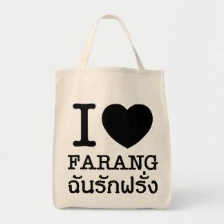 I Black Heart (Love) Farang Tote Bag