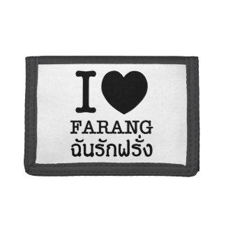 I Black Heart (Love) Farang Trifold Wallet