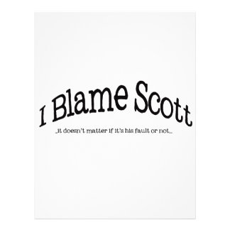 I Blame Scott Flyer