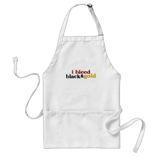 I Bleed Black And Gold Adult Apron