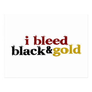 I Bleed Black And Gold Postcard
