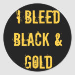 I Bleed Black and Gold Sticker