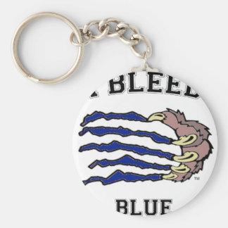 I Bleed Blue Claw Basic Round Button Keychain