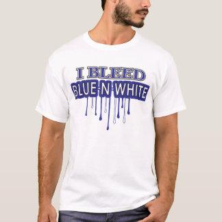 I Bleed Blue N White T-Shirt