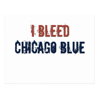 i bleed chicago blue postcard