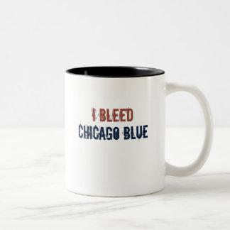 i bleed chicago blue Two-Tone coffee mug