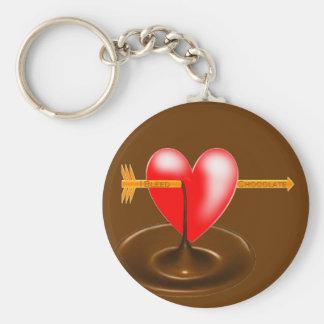 I Bleed Chocolate Basic Round Button Keychain