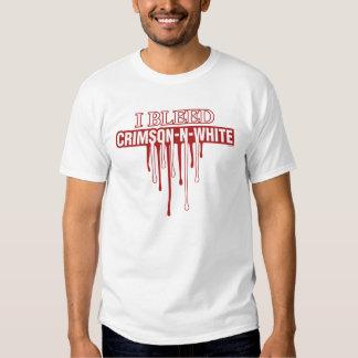 I Bleed Crimson and White Tee Shirt