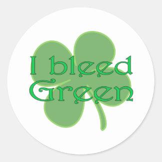 I Bleed Green Classic Round Sticker