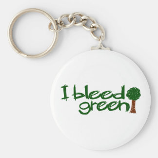 I Bleed Green Keychains