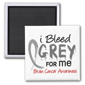 I Bleed Grey For ME Brain Cancer 2 Inch Square Magnet